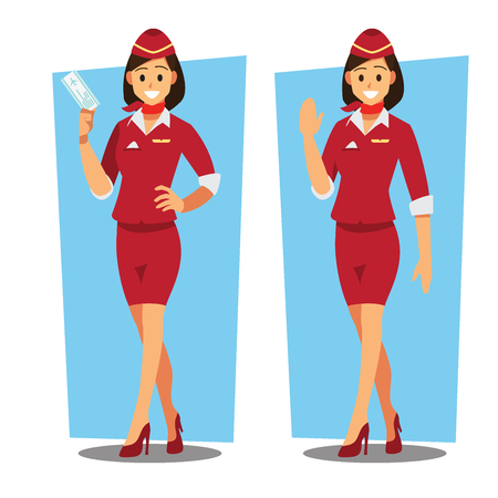Flying attendants character Banque d'images - 94707028