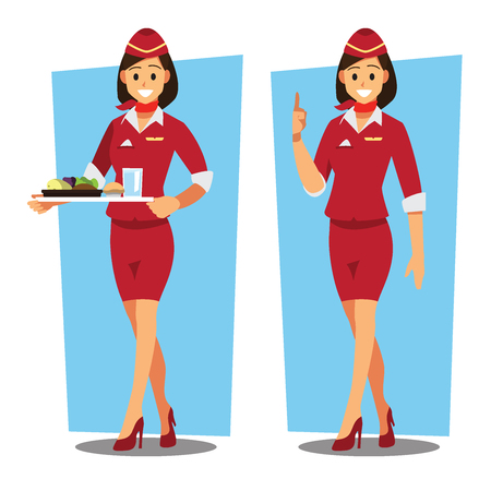 Flying attendants character Banque d'images - 94707027