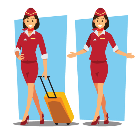 Flying attendants character Banque d'images - 94707026