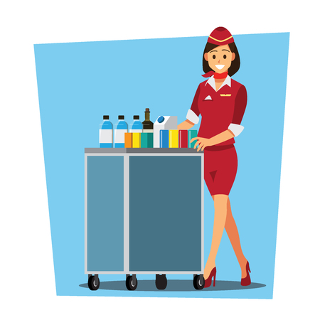 Flying attendant character