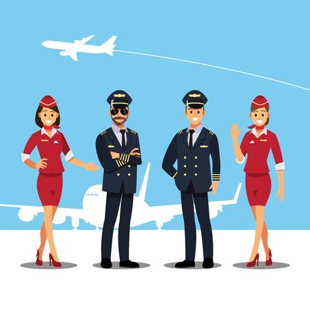 Assistenti di volo e personaggio di piloti