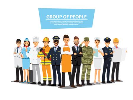 Ludzie grupy inny zestaw zadań, płaskie wektor ilustracja tło