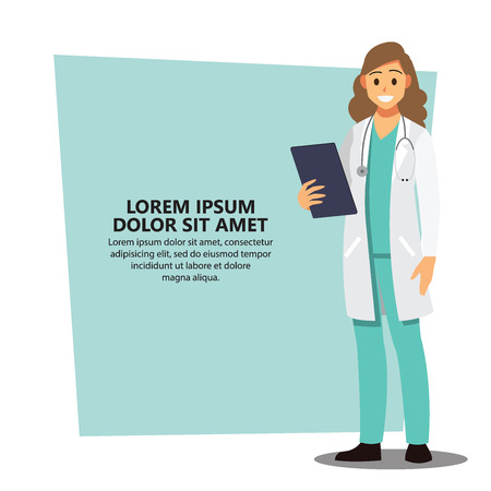 doctor background, healthcare Providers , Vector illustration cartoon character