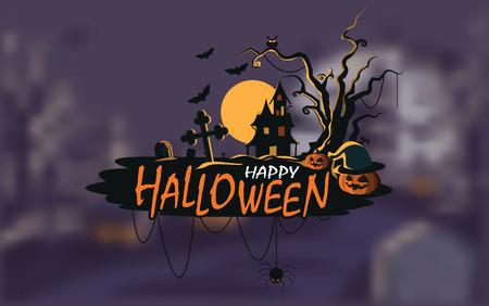 Fondo de halloween casa embrujada