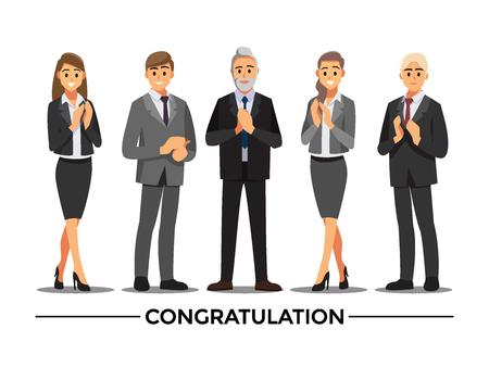 Business People congratulation ,Vector illustration cartoon character.