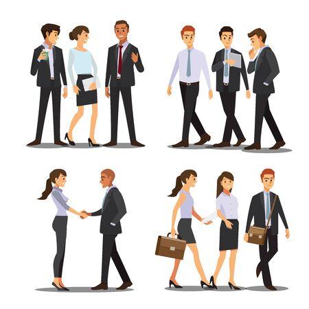 business men and women character , vector