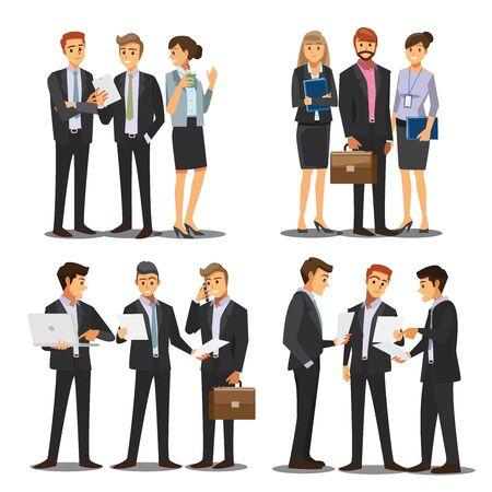business men and women character , vector Vector Illustration