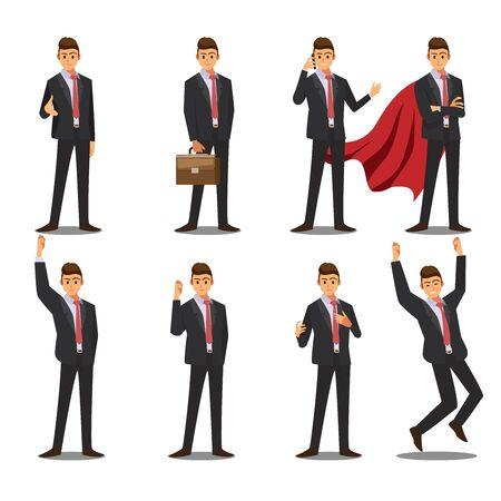business men character , vector