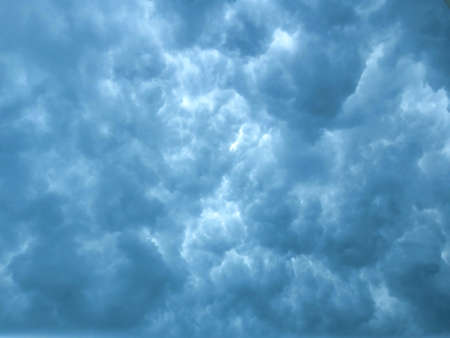 dense clouds covering the whole sky gives a effect of explosion