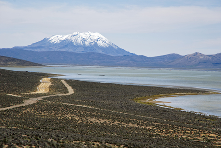 Misti Mountain Landscapes Arequipa Region South of Peru