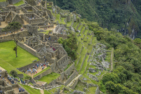 The road to Machu Picchu and beautiful landscapes Stock Photo