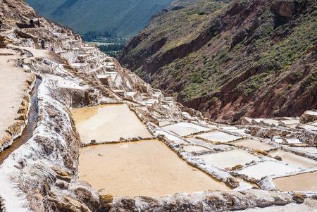 The salt mine of Peru Maras close to Cusco