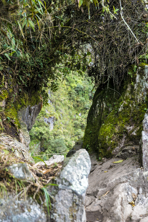 The road to Machu Picchu and beautiful landscapes Banque d'images