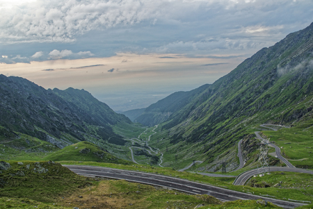 Road trip true the wonderful nature and landscape of Romania