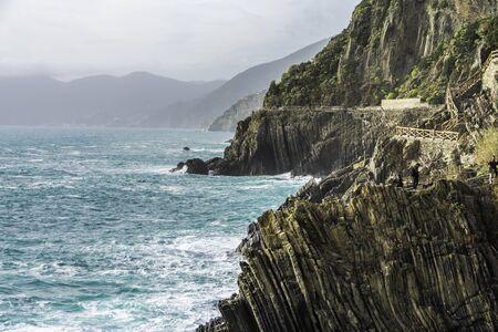 Riomaggiore in Cinque Terre,La Spezia province in Liguria Region, northern Italy