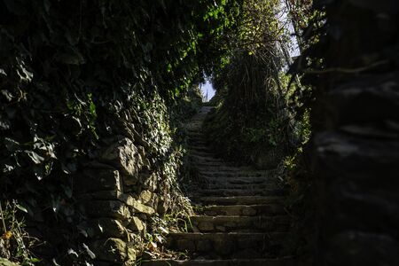 Stair Path on the hiking trail from Monterosso, Cinque Terre, Italy Reklamní fotografie