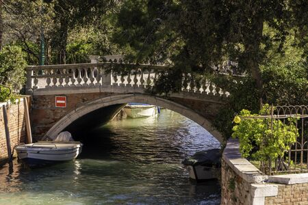 Bridge in Riva San Biasio in Venice near the Venetian Arsenal