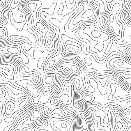 Background of the topographic map. Topographic map lines, contour background. Geographic grid, vector abstract. 向量圖像