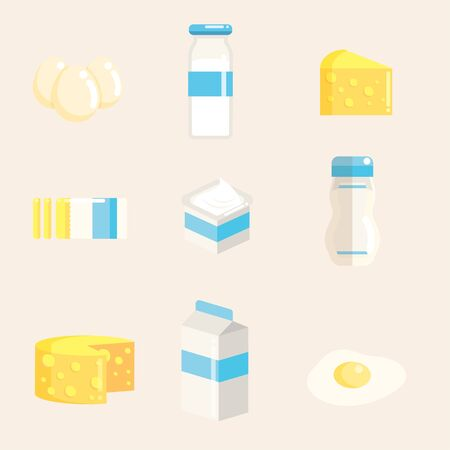 Dairy Product Collection Illustration