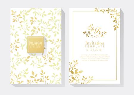 White and Gold Invitation Illustration