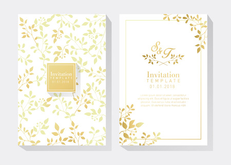 White and Gold Invitation Vectores