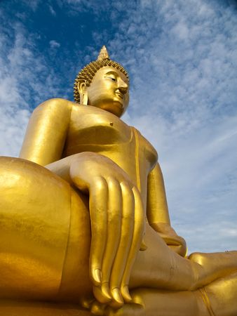 The biggest buddha statue at Wat Muang,Thailand Stock Photo - 7868311