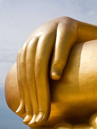 The biggest buddha statue at Wat Muang,Thailand Stock Photo - 7868307