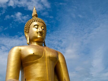 The biggest buddha statue at Wat Muang,Thailand Stock Photo - 7868310