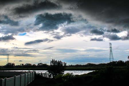 Stormy Sky With Yardlike Landscape
