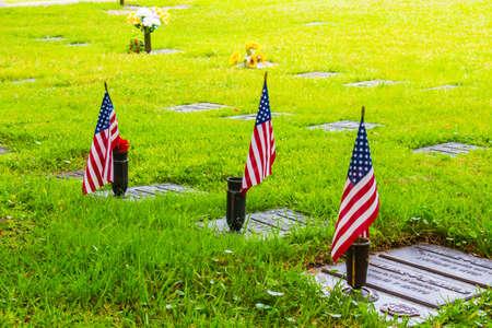 vegatation: A community run cemetery Stock Photo