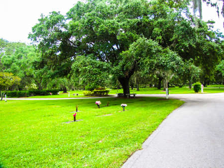 A community run cemetery Stock Photo