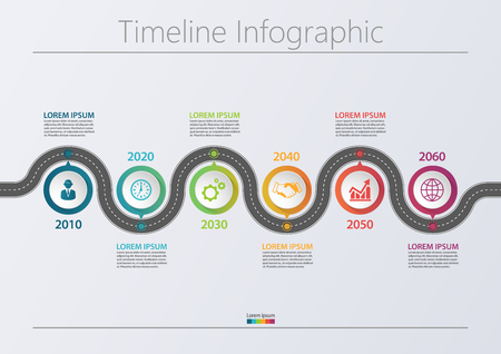 Business road map. timeline infographic icons designed for abstract background template milestone element modern diagram process technology digital marketing data presentation chart Vector