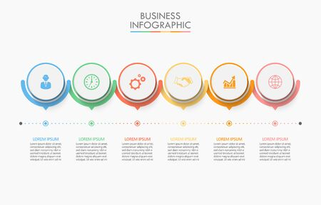 Business data visualization. timeline infographic icons designed for abstract background template milestone element modern diagram process technology digital marketing data presentation chart Vector Vettoriali