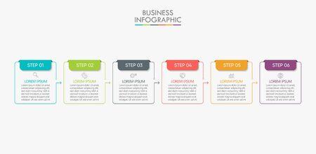 Visualización de datos comerciales. Iconos de infografía de línea de tiempo diseñados para fondo abstracto elemento de hito de plantilla diagrama moderno tecnología de proceso marketing digital gráfico de presentación de datos Vector