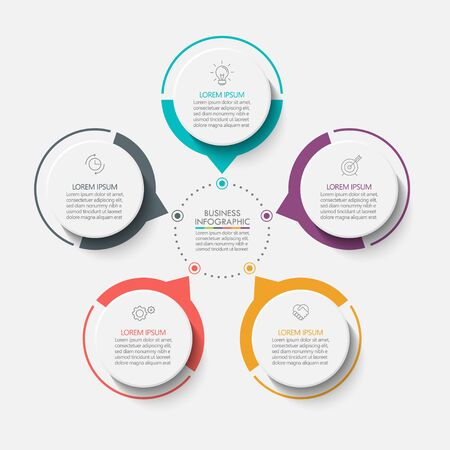 Business circle. timeline infographic icons designed for abstract background template milestone element modern diagram process technology digital marketing data presentation chart Vector