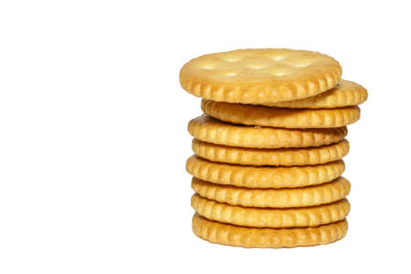 galletitas: crackers on white background