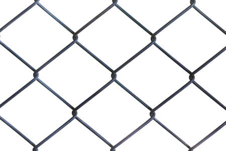 wire mesh: Wire mesh fence. White background.