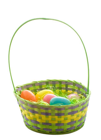 Easter egg basket. Stock Photo - 2835750