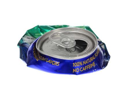 flattened: Crushed Soda Can