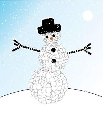 illustrated: Illustrated Snowman