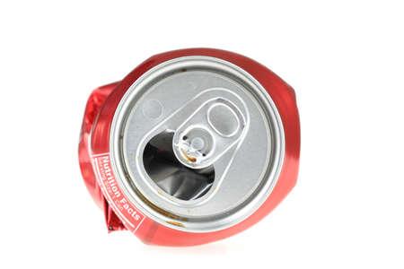lata de refresco: Red de soda Can  Foto de archivo