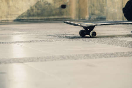 play time: Skateboarding on the floor in play time