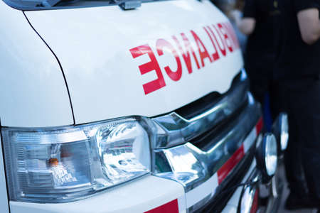 Ambulance auto's in hopital.