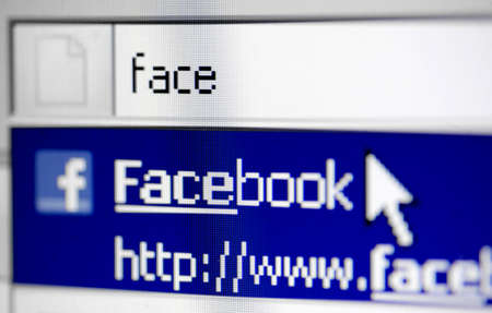 Bucharest, Romania - March 27, 2011: Close-up monitor shot of the Facebook site start page. Stock Photo - 10005946