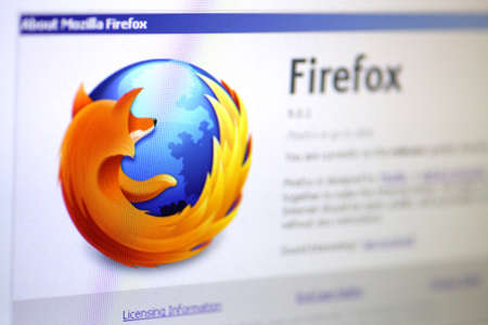 managed: Bucharest, Romania - January 10, 2012: Shot of the Mozilla Firefox logo displayed on a computer screen with shallow depth of field. Mozilla Firefox is a free and open source web browser descended from the Mozilla Application Suite and managed by Mozilla C Editorial