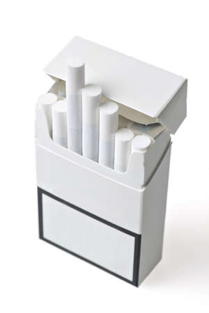 Studio shot of an opened pack of cigarettes Stock Photo - 12540730