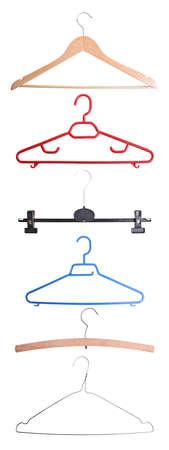 Six coat hangers isolated on white Stock Photo - 12830593