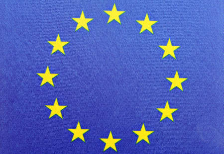 Color detail of the European Union flag photo