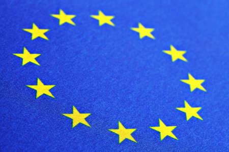european union: Color detail of the European Union flag Stock Photo