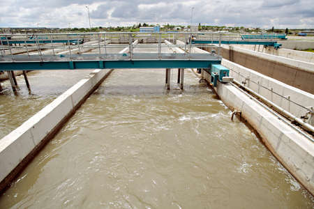 water filter: View of some water treatment plant facilities